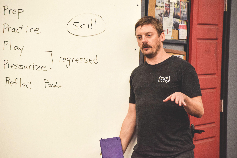 Andy Fossett teaching at a GMB Seminar